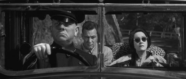 Erich von Stronheim, William Holden and Gloria Swanson in Billy Wilder's  Sunset Boulevard