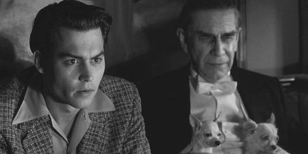 Johnny Depp and Martin Landau in Tim Burton's     Ed Wood