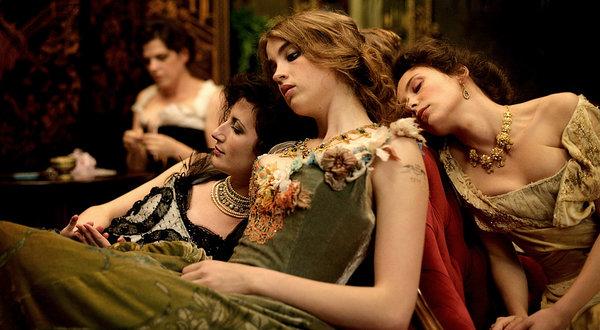Celine Sallette, Adele Haenel and Jasmine Trinca in Bertrand Bonello's  House of Pleasures