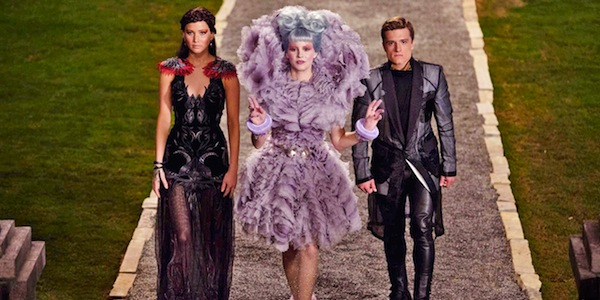 Jennifer Lawrence, Elizabeth Banks and Josh Hutcherson in Francis Lawrence's  The Hunger Games: Catching Fire