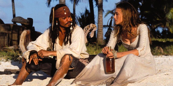 Johnny Depp and Keira Knightley in Gore Verbinski's  Pirates of the Caribbean: The Curse of the Black Pearl