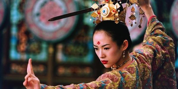 Zhang Ziyi in Zhang Yimour's  House of Flying Daggers