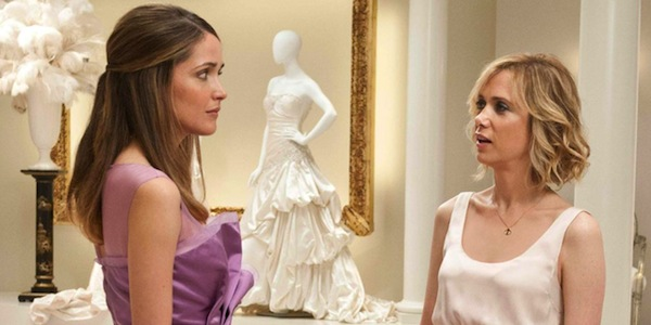 Rose Byrne (left) and Kristen Wiig in Paul Feig's  Bridesmaids