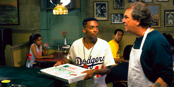 Spike Lee and Danny Aiello in Spike Lee's  Do the Right Thing