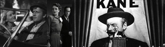 (left to right)   Sullivan's Travels,The Maltese Falcon, Citizen Kane