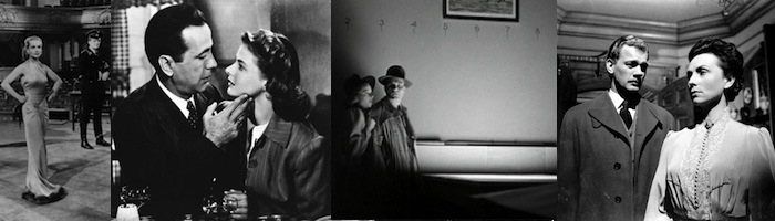 (left to right)   To Be or Not to Be, Casablanca, Cat People ,  The Magnificent Amebersons