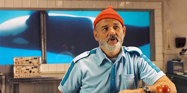 Bill Murray in Wes Anderson's  The Life Aquatic with Steve Zissou