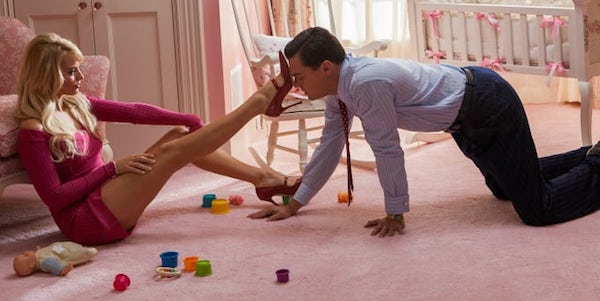Margot Robbie and Leonardo DiCaprio in Martin Scorsese's  The Wolf of Wall Street