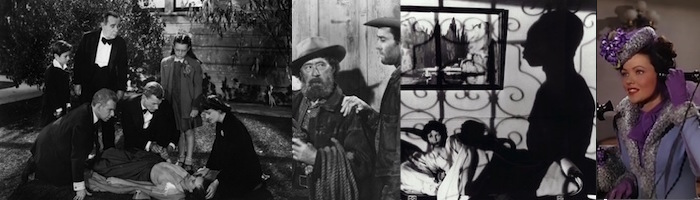 (left to right)   Shadow of a Doubt, The Ox-Bow Incident, I Walked with a Zombie, Heaven Can Wait  (dir: Ernst Lubitsch)