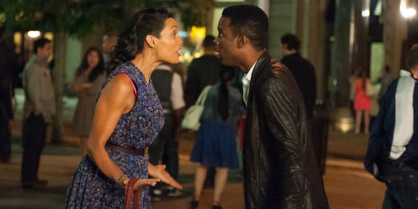 Rosario Dawson and Chris Rock in Chris Rock's  Top Five