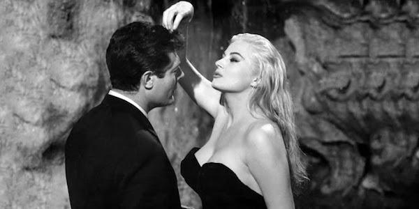 Marcello Mastroianni and Anita Ekberg in Federico Fellini's  La Dolce Vita