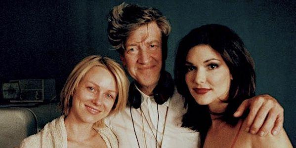 David Lynch with Namoi Watts and Laura Elena Haring