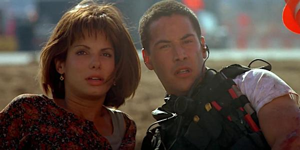 Sandra Bullock and Keanu Reeves in Jan de Bont's  Speed