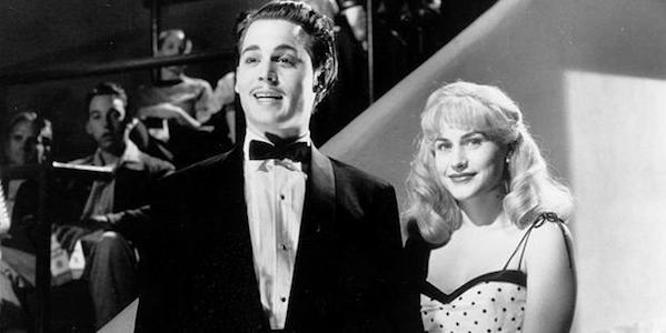 Johnny Depp and Patricia Arquette in Tim Burton's  Ed Wood