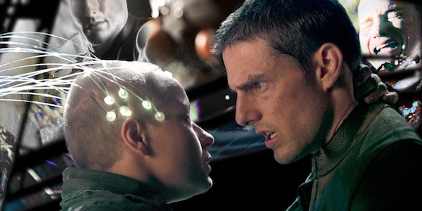Samantha Morton and Tom Cruise in Steven Spielberg's  Minority Report