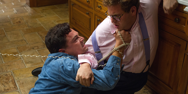 Leonardo DiCaprio and Jonah Hill in Martin Scorsese's  The Wolf of Wall Street