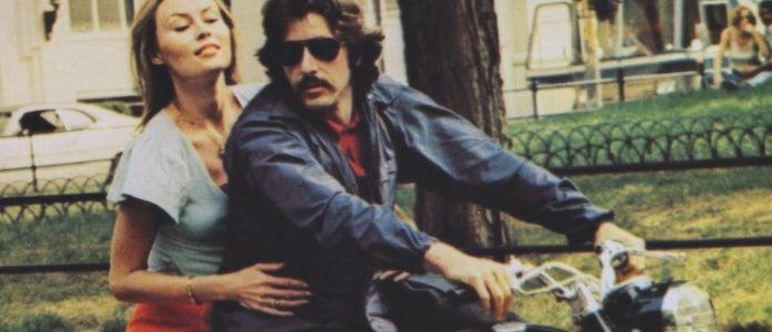 Al Pacino and Cornelia Sharpe in Sidney Lumet's  Serpico