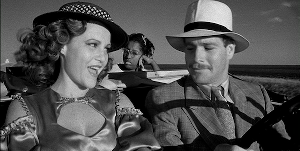 Madeline Kahn and Ryan O'Neal (with P.J. Johnson in the backseat) in Peter Bogdanovich's  Paper Moon
