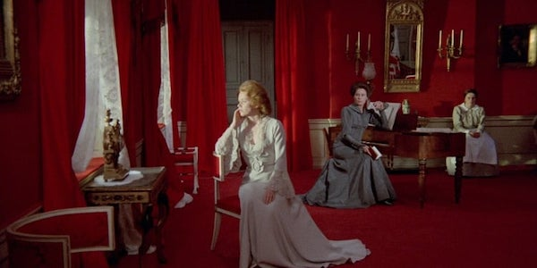 Liv Ullman, Ingrid Thulin and TK in Ingmar Bergman's  Cries and Whispers