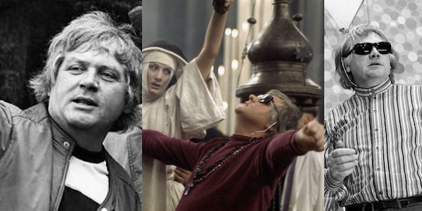 Ken Russell on the sets of (left to right)  The Music Lovers, The Devils  (with Vanessa Redgrave) and  The Boy Friend