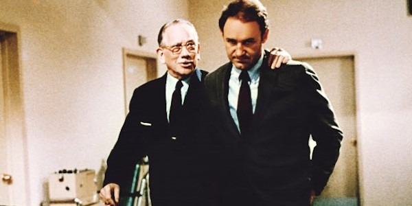 Melvyn Douglas (left) and Gene Hackman in Gilbert Cates'  I Never Sang for My Father