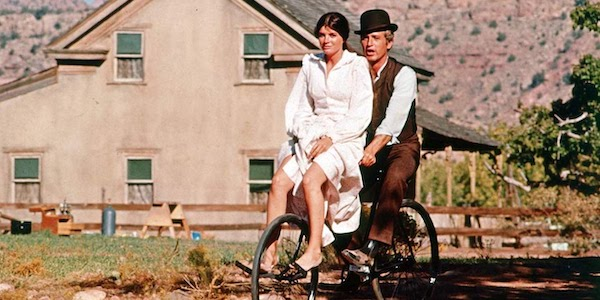 Katharine Ross and Paul Newman in George Roy Hill's  Butch Cassidy and the Sundance Kid