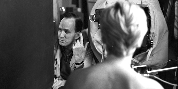 Ingmar Bergman and Bibi Andersson on the set of  Persona