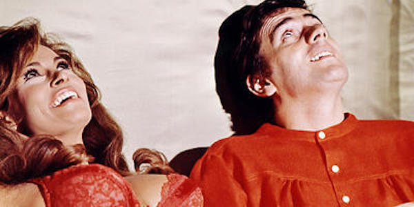 Raquel Welch and Dudley Moore in Stanley Donen's  Bedazzled