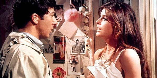 Dustin Hoffman and Katherine Ross in Mike Nichols'  The Graduate