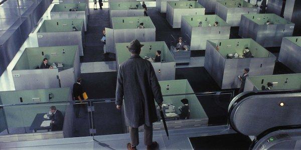 Jacques Tati in Tati's  Play Time