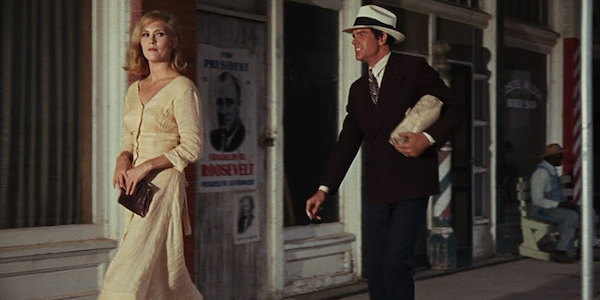 Faye Dunaway and Warren Beatty in Arthur Penn's  Bonnie & Clyde