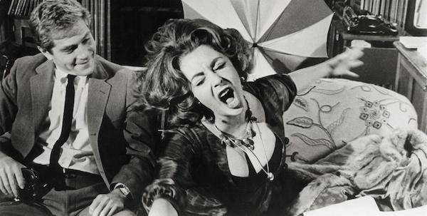 Elizabeth Taylor and George Segal in Mike Nichols'  Who's Afraid of Virginia Woolf?