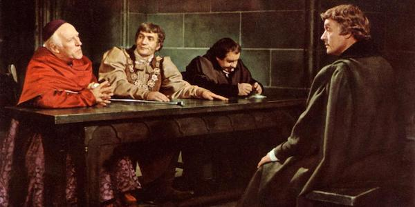 Paul Scofield, Nigel Davenport, Cyril Luckham, and Leo McKern in Fred Zinnemann's  A Man for All Seasons