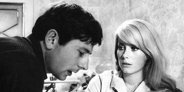 Roman Polanski and Catherine Deneuve on the set of  Repulsion