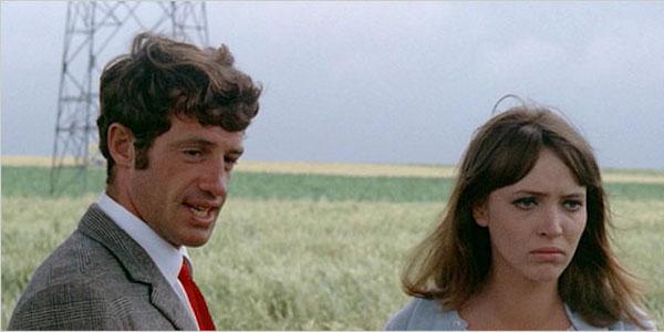 Jean-Paul Belmondo and Anna Karina in Jean-Luc Godard's  Pierrot le Fou
