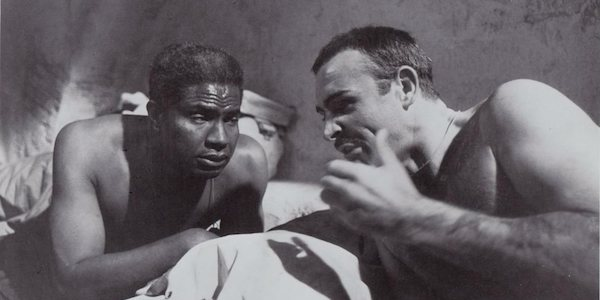 Ossie Davis (left) and Sean Connery in Sidney Lumet's  The Hill