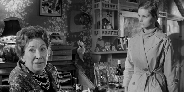 Martita Hunt (left) and Carol Lynley in Otto Preminger's  Bunny Lake Is Missing