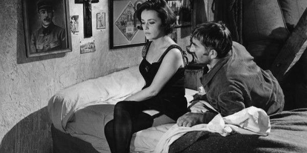Jeane Moreau and Georges Geret in Luis Buñuel's  Diary of a Chambermaid