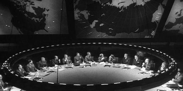 Stanley Kubrick's War Room in  Dr. Strangelove