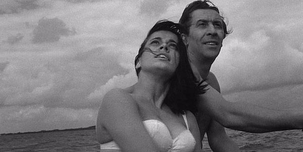 Leon Niemczyk and Jolanta Umecka in Roman Polanski's  Knife in the Water