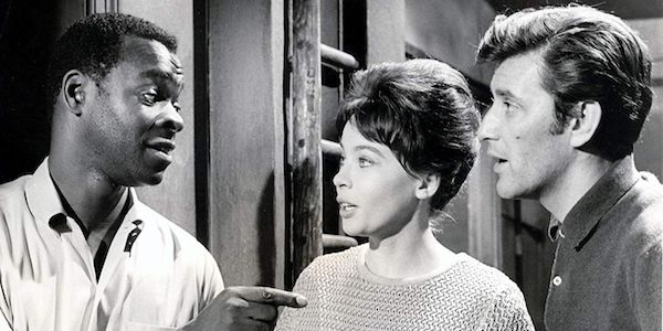 Brock Peters, Leslie Caron, and Tom Bell in Bryan Forbes'  The L-Shaped Room