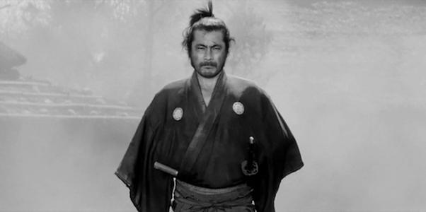 Toshiro Mifune in Akira Kurosawa's  Yojimbo