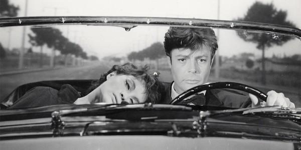 Anouke Aimee and Marcello Mastroianni in Federico Fellini's  La Dolce Vita