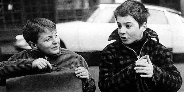 Patrick Auffay and Jean-Pierre Léaud in Francois Truffaut's  400 Blows