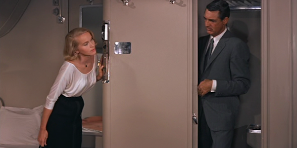 Eva Marie Saint and Cary Grant in Alfred Hitchcock's  North by Northwest