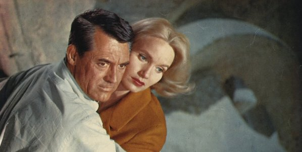 Cary Grant and Eva Marie Saint in Alfred Hitchcock's  North by Northwest