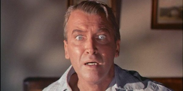 James Stewart in Alfred Hitchcock's  Vertigo