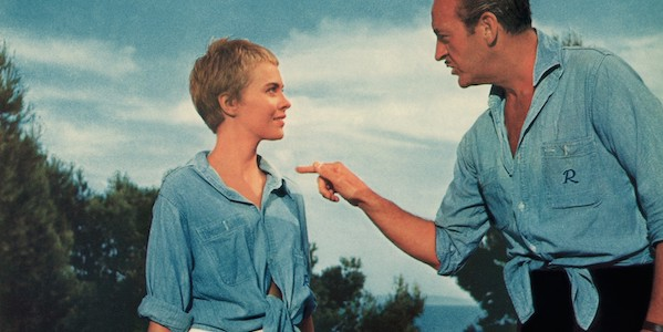 Jean Seberg and David Niven in Otto Preminger's  Bonjour Tristesse