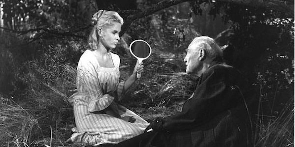 Bibi Andersson and Victor Sjöström in Ingmar Bergman's  Wild Strawberries