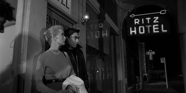 Janet Leigh and Valentin de Vargas in Orson Welles'  Touch of Evil